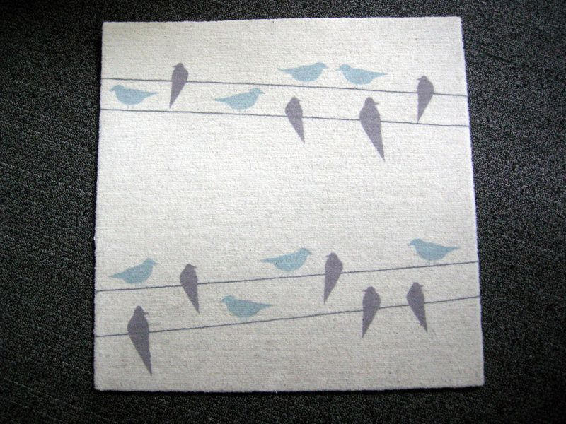 Eco-friendly Flor carpet tiles with birds