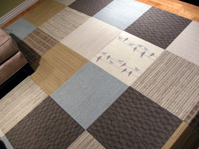 Flor eco-friendly carpet tiles with mosaic design