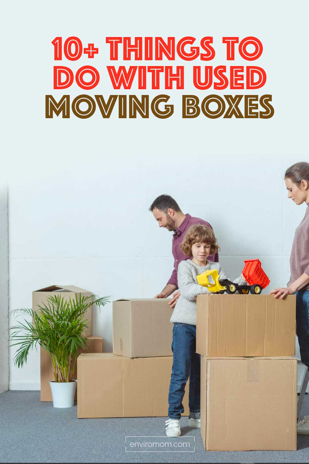 What to do with used moving boxes