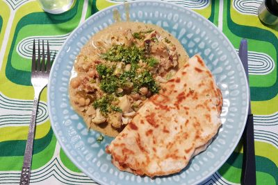 Cauliflower and chickpea curry for Meatless Supper club