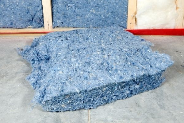 Recycled blue jeans used as denim insulation