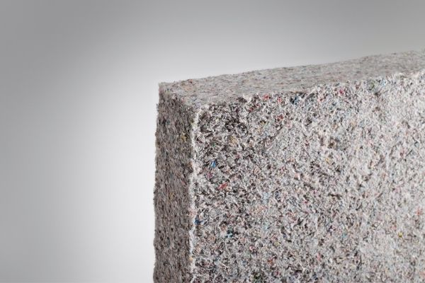 Recycled newspapers used as cellulose insulation