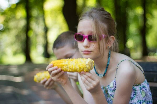 cooked corn is a safe option for kids