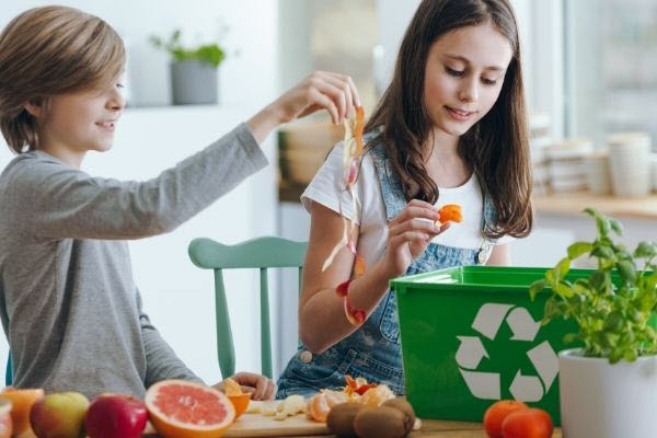 food waste turns into compost