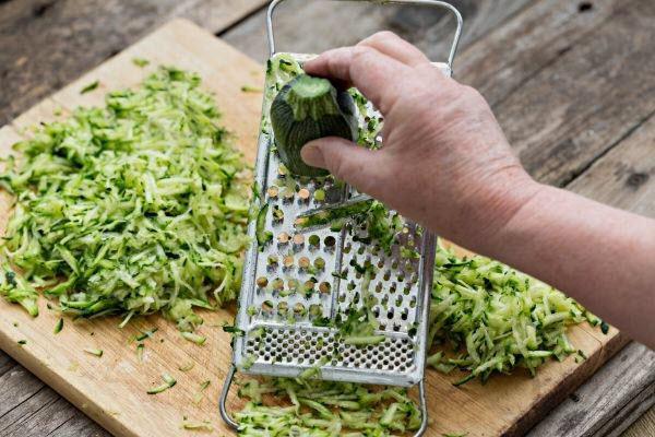 grated zucchini for hide and eat