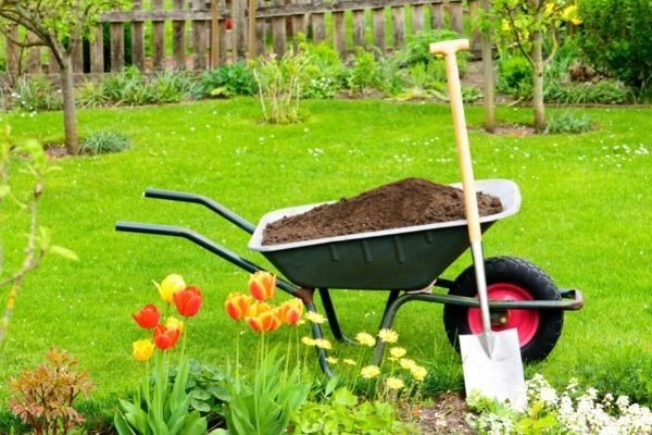 using compost for garden