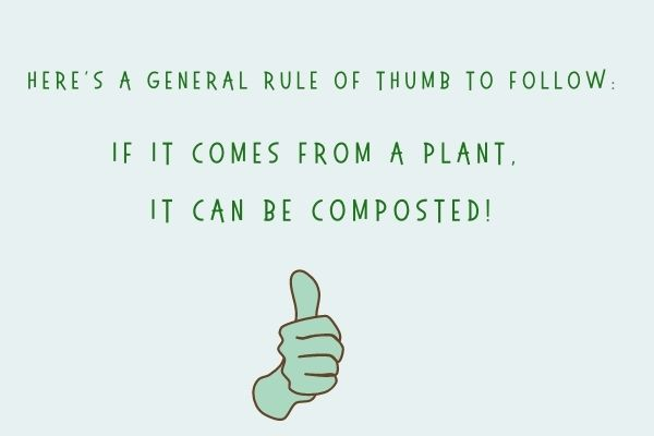 If it comes from a plant - it can be composted